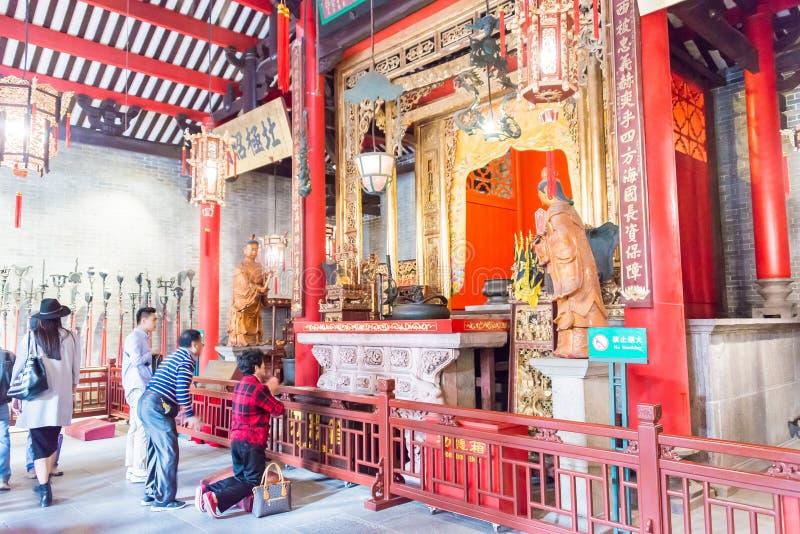 GUNAGDONG, CHINE - 28 novembre 2015 : Temple héréditaire de Foshan (Zumiao T photographie stock libre de droits