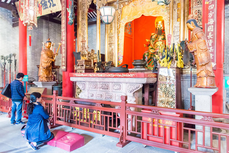 GUNAGDONG, CHINE - 28 novembre 2015 : Temple héréditaire de Foshan (Zumiao T photos stock