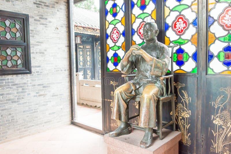 GUNAGDONG, CHINE - 28 novembre 2015 : Wong Fei-a accroché la statue chez Wong Fei photographie stock