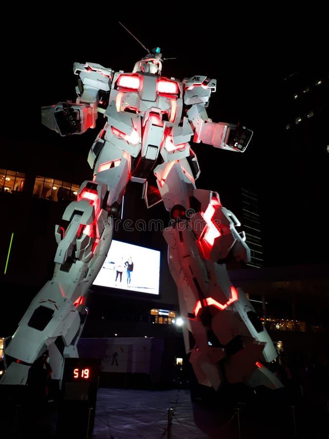 Gundam в городе водолаза, токио стоковое фото