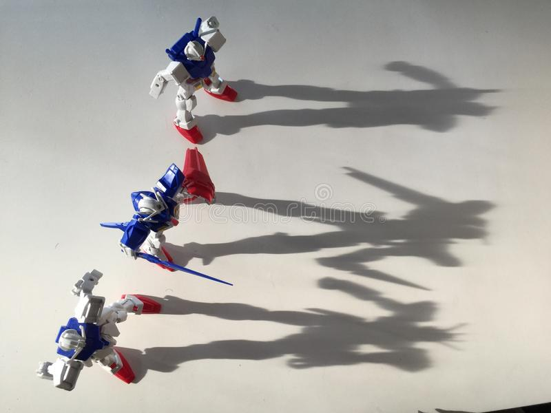 Gundam cień fotografia stock