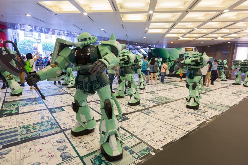 Gundam Docks at Time Square, Hong Kong. Times Square and BANDAI (H.K.) jointly present the Gundam Docks at Hong Kong exhibition, featuring the stunning RX-78-2 stock image