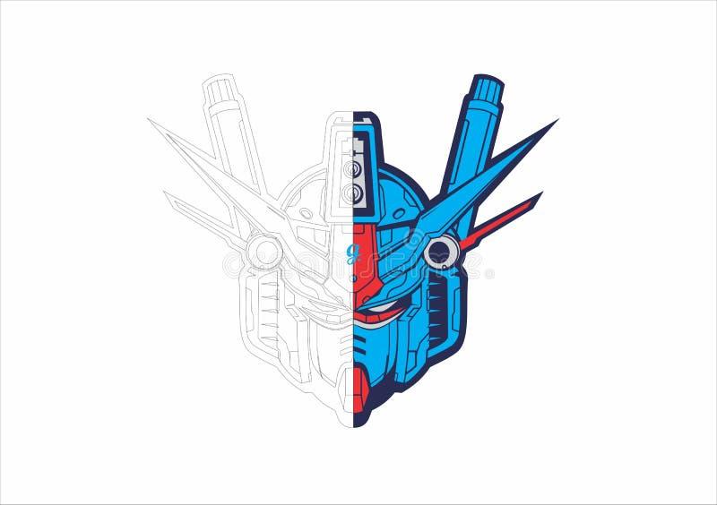 Gundam head stock image