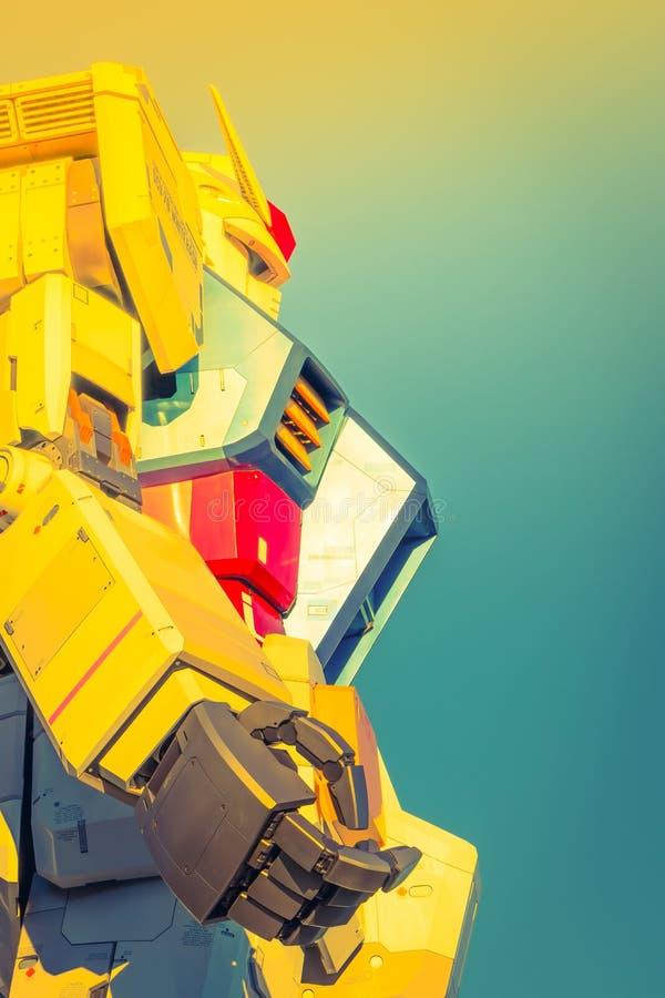 Gundam-Leistungen der natürlichen Größe außerhalb Piazzas DiverCity Tokyo, Oda stock abbildung