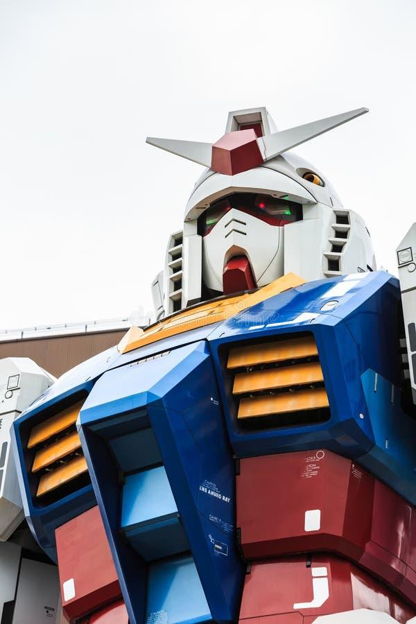 Gundam normal RX78 dans le 1:1 de rapport images stock