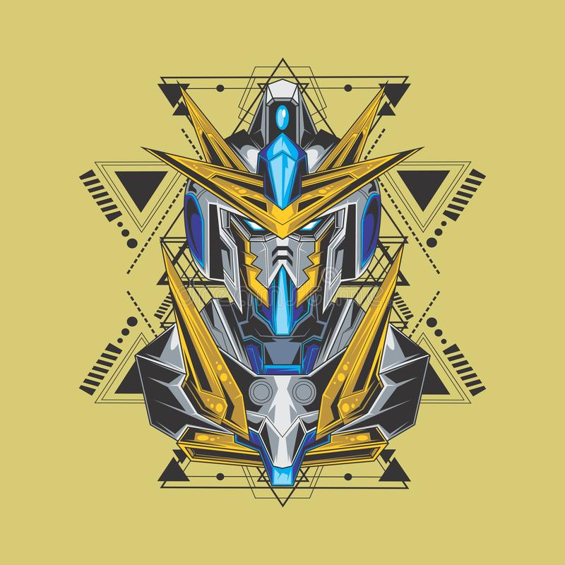 mighty gundam and sacred geometry royalty free illustration