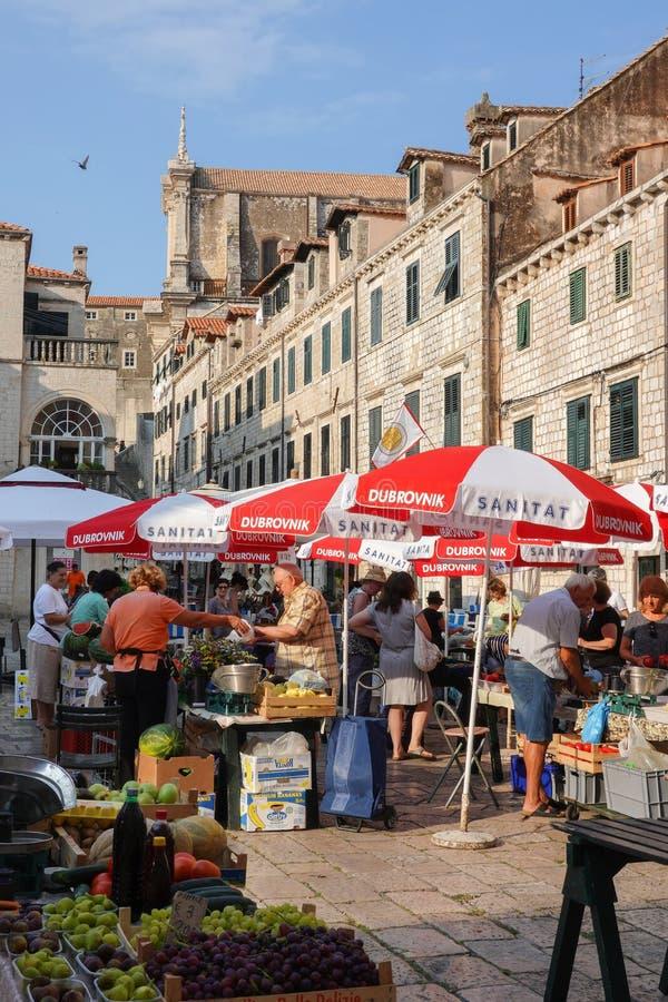 Gunduliceva poljana, Dubrovnik magistrali rynek zdjęcia royalty free