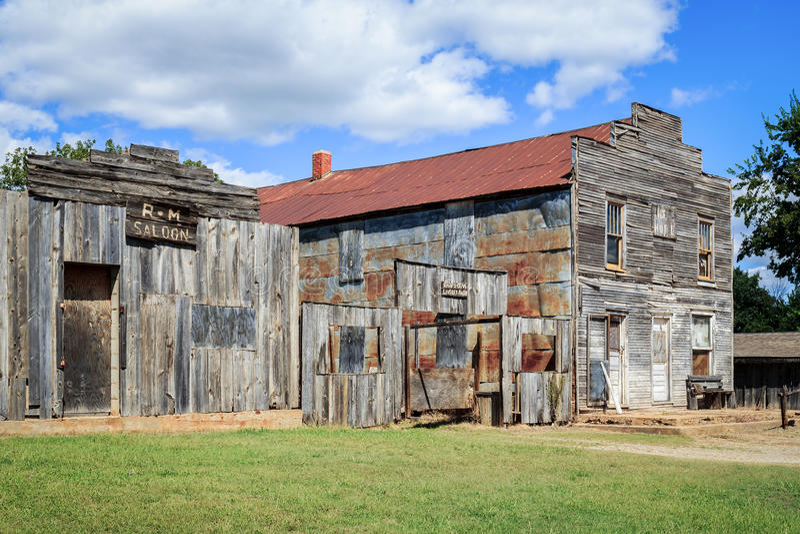 Gunfight in Ingalls Oklahoma royalty-vrije stock afbeelding