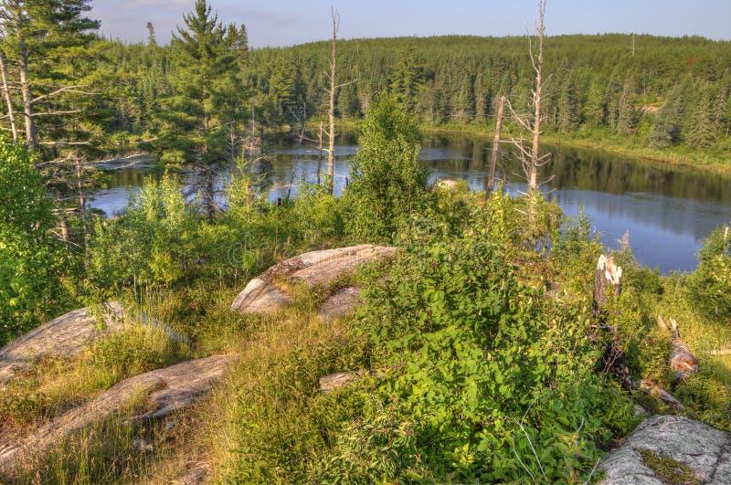 Gunflint足迹在优越国家森林,明尼苏达里 免版税库存图片