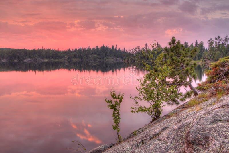 Gunflint足迹在优越国家森林,明尼苏达里 库存照片