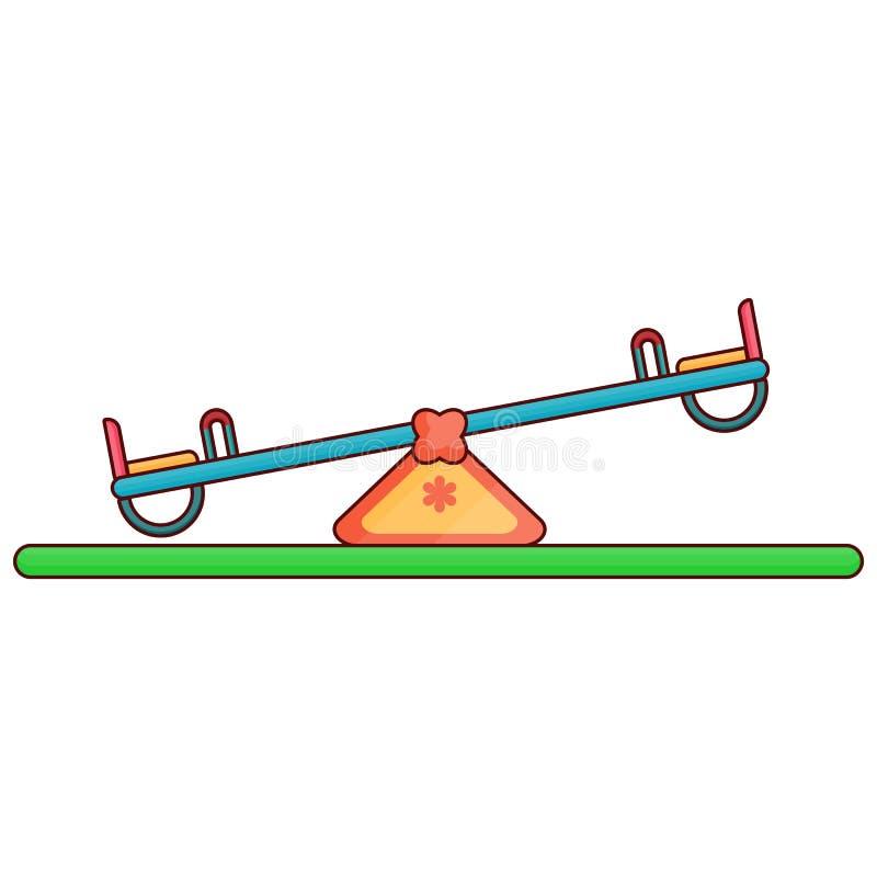 Gungbrädelekplats - linje konst royaltyfri illustrationer