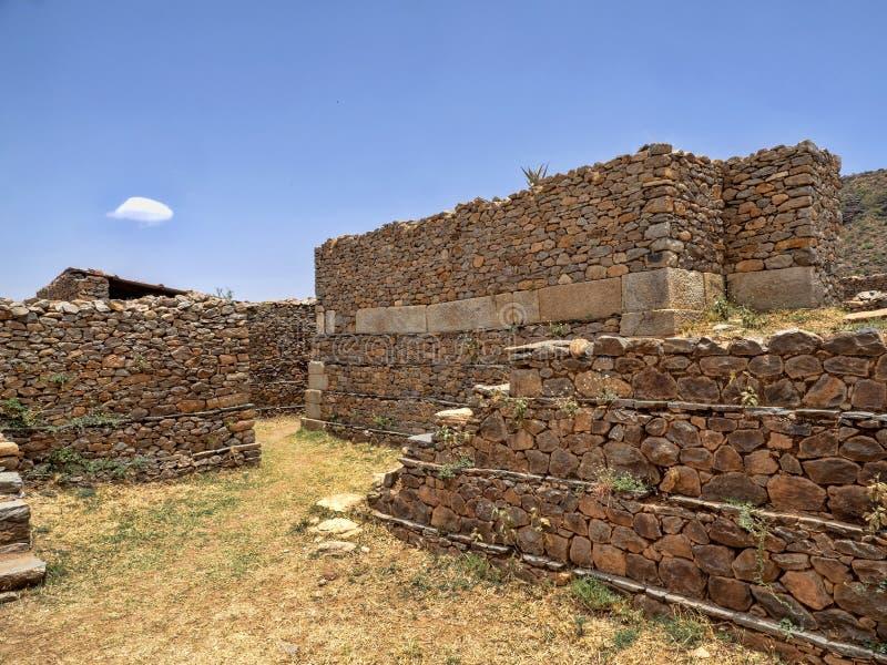 Gungor This è un sito del patrimonio mondiale dell'Unesco elencato come Aksum, Etiopia immagine stock libera da diritti