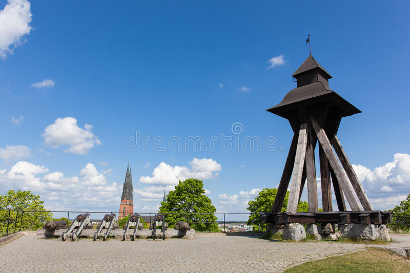 Gunilla Bell de Upsália, Suécia foto de stock