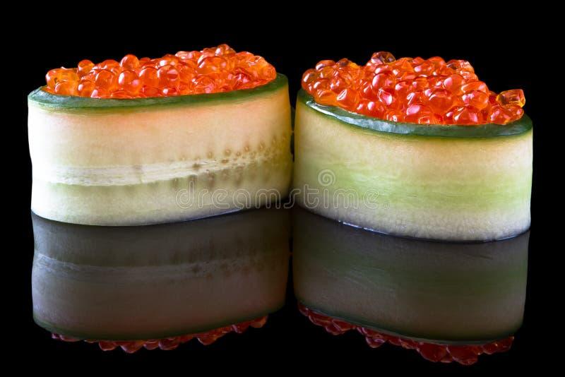 Gunkan ikura van sushi royalty-vrije stock foto