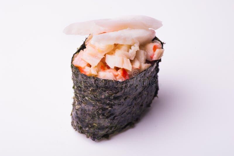 Gunkan sushi för krabba royaltyfria foton