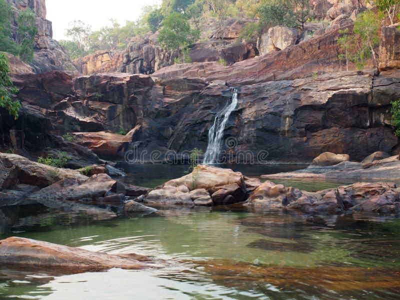 Gunlom (crique de cascade), parc national de Kakadu, Australie photographie stock libre de droits