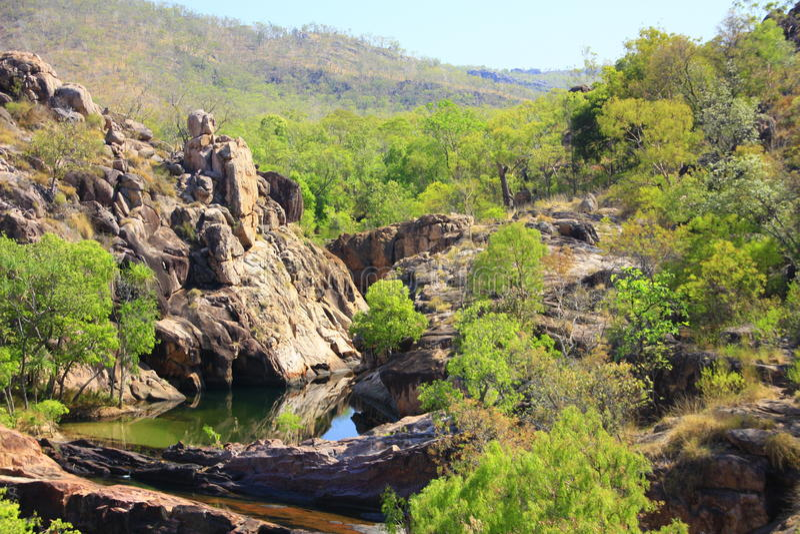 Gunlom en el parque nacional de Kakadu, Territorio del Norte, Australia foto de archivo libre de regalías