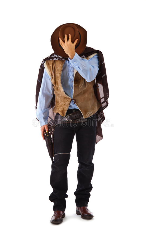 Gunman in the old wild west stock photography