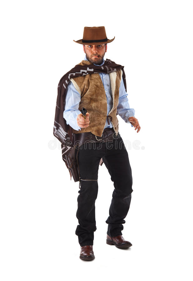 Gunman in the old wild west stock photo