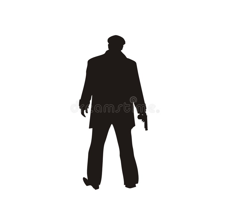 Download Gunmen stock vector. Illustration of artistic, silhouette - 7165494