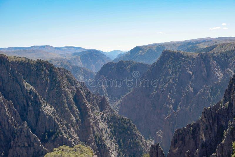 Gunnison国家公园的黑峡谷, 免版税图库摄影