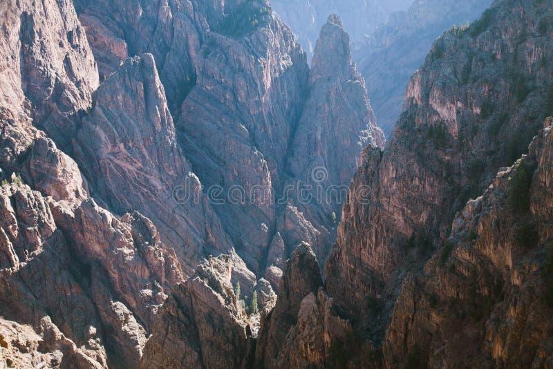 Gunnison国家公园黑峡谷  图库摄影
