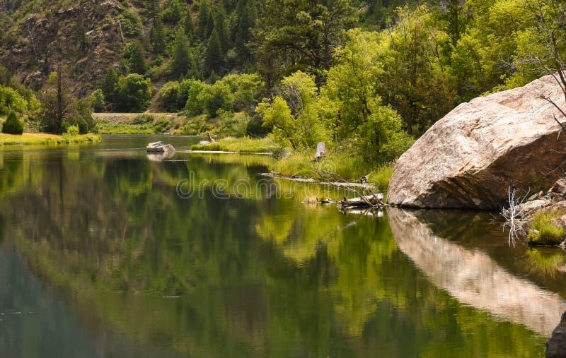 Gunnison河在黑峡谷国家公园,科罗拉多 库存照片