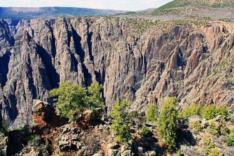 Gunnison的黑峡谷在Gunnison点的 免版税库存照片