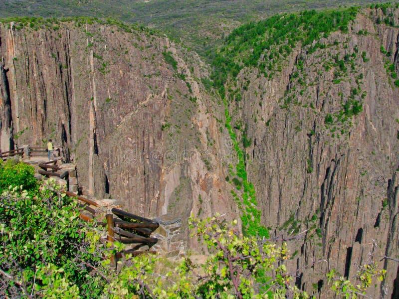Gunnison的黑峡谷 免版税库存照片