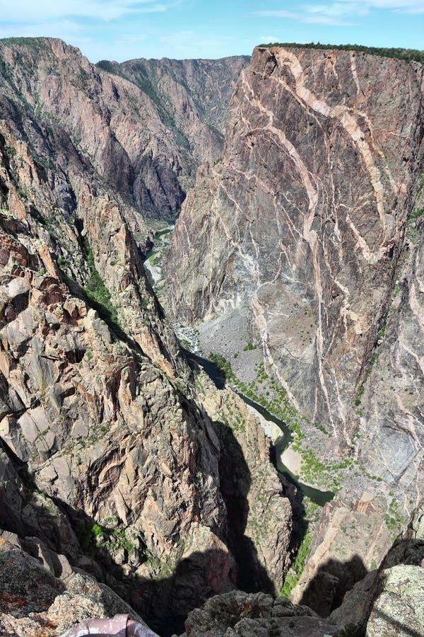Gunnison的黑峡谷 库存图片