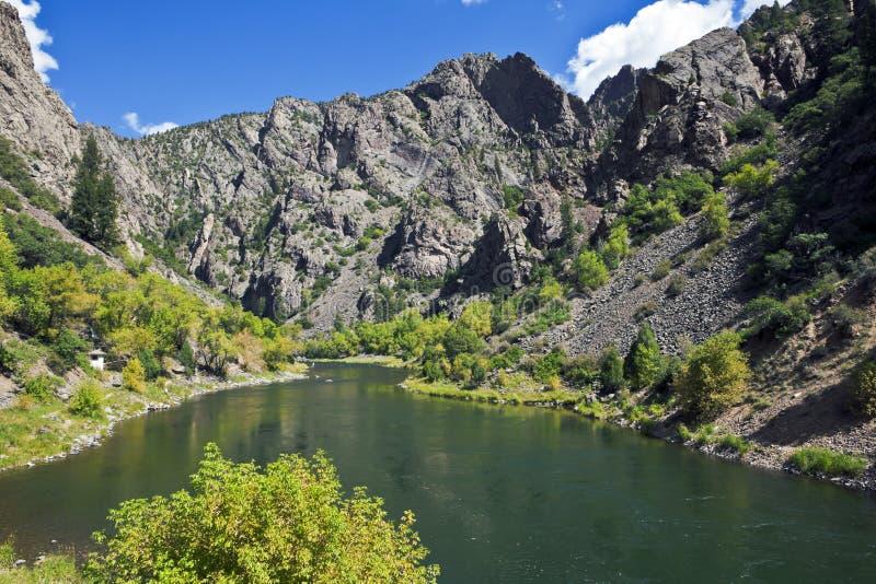 Gunnison Fluss in der schwarzen Schlucht, West stockfotos