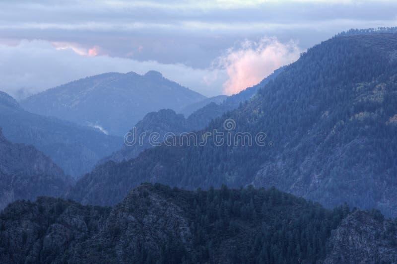 gunnison nero del canyon immagini stock