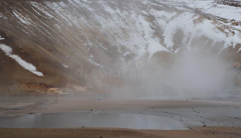Gunnuhver Geotermiczny pole Iceland zdjęcie royalty free