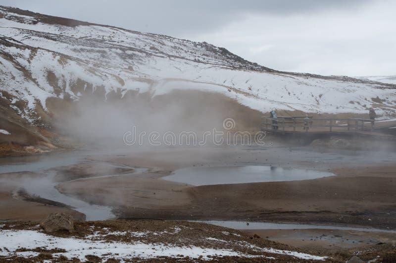 Gunnuhver Geotermiczny pole Iceland fotografia stock
