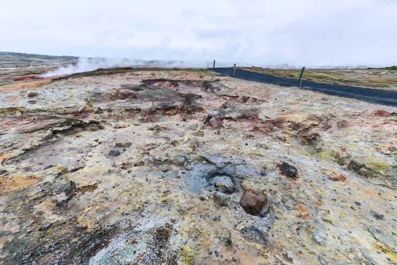 Gunnuhver Geotermiczny teren, Iceland zdjęcia stock