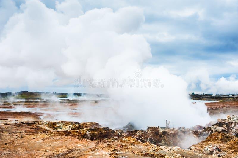 Gunnuhver Geotermiczny teren, Iceland zdjęcie royalty free