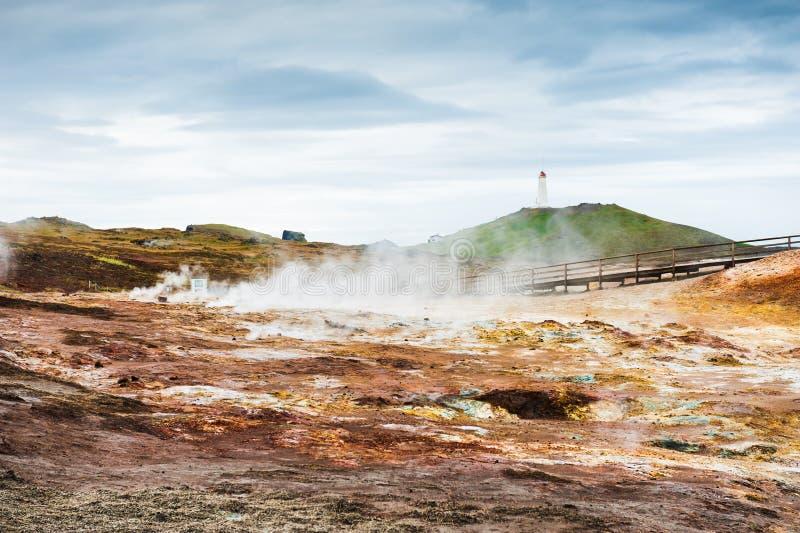 Gunnuhver Geotermiczny teren, Iceland fotografia royalty free