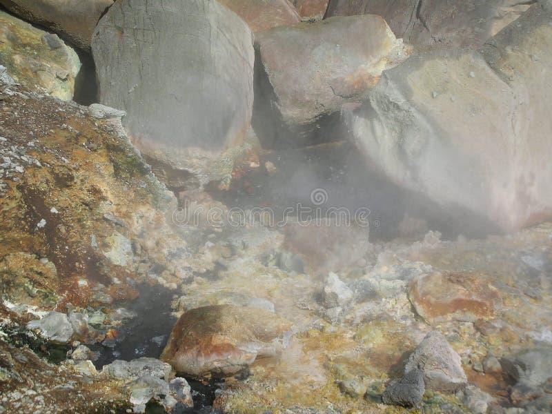Gunnuhver geotermiczny teren, Reykjanes półwysep zdjęcie royalty free