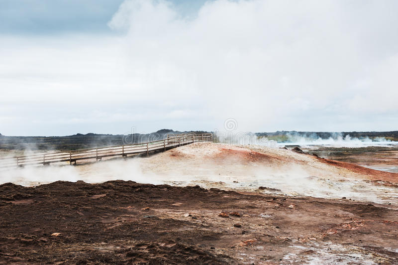 Gunnuhver geotermiczny teren w Iceland zdjęcie royalty free