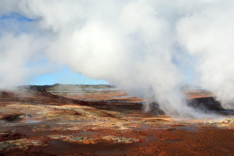 Gunnuhver geothermal area royalty free stock photo
