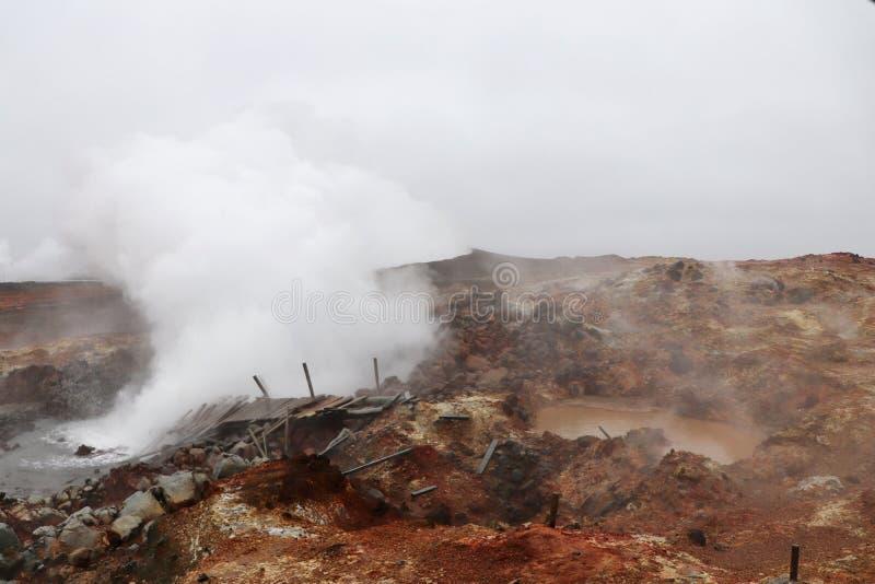 Gunnuhver geothermisch gebied in IJsland royalty-vrije stock afbeelding