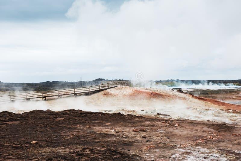 Gunnuhver geothermisch gebied in IJsland royalty-vrije stock foto