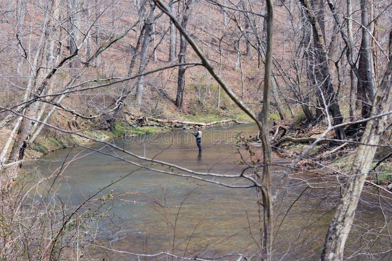 Gunpowder State park in Maryland fly fishing royalty free stock photo