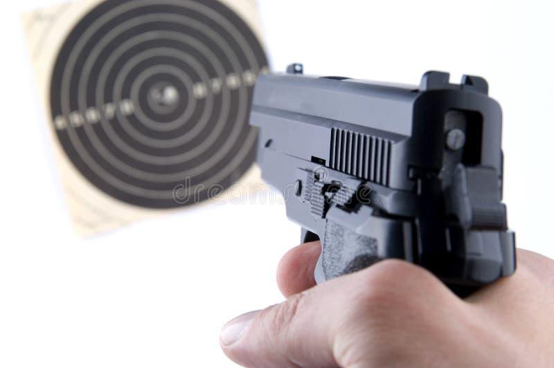 Guns. Photo of black guns on the white background royalty free stock photography