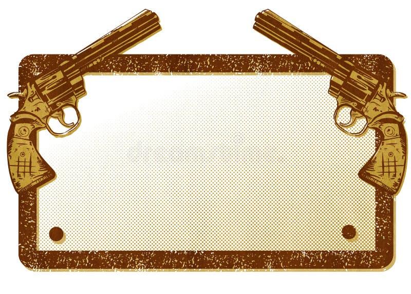 Guns Banner Illustration stock images