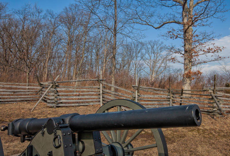 The Guns of Gettysburg--Civil War Cannon royalty free stock photography