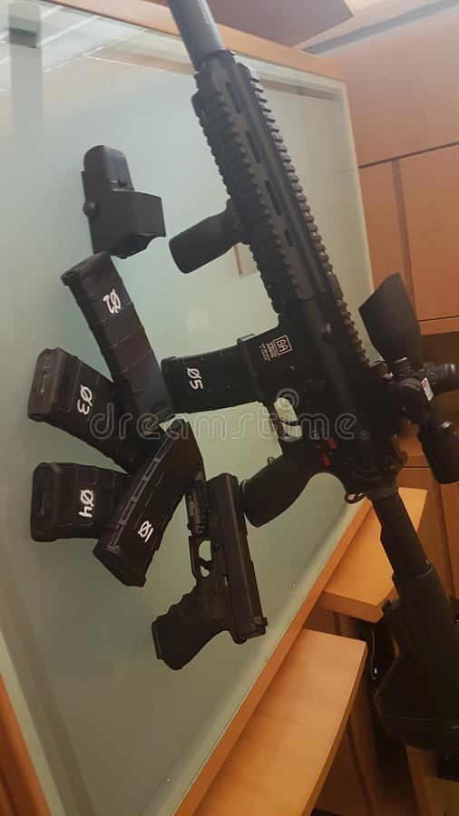 Guns. My airsoft guns royalty free stock photography