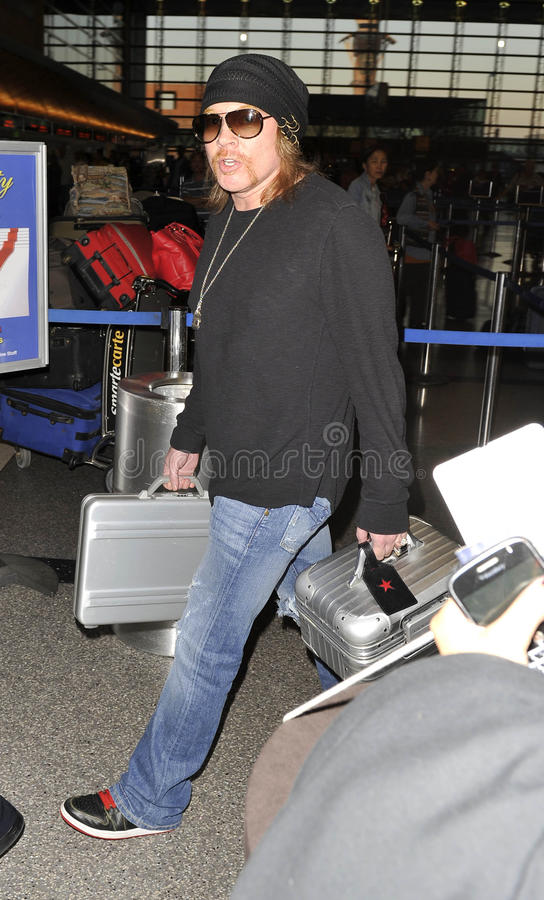 Guns n Roses frontman Axl Rose at LAX royalty free stock image