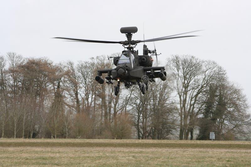 Gunship van Apache royalty-vrije stock afbeelding