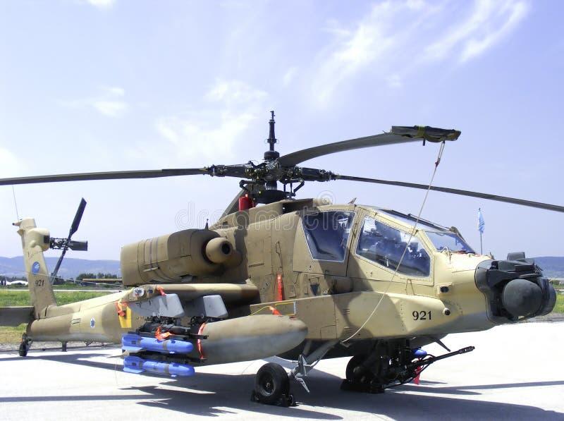 Gunship van Apache helikopter stock foto